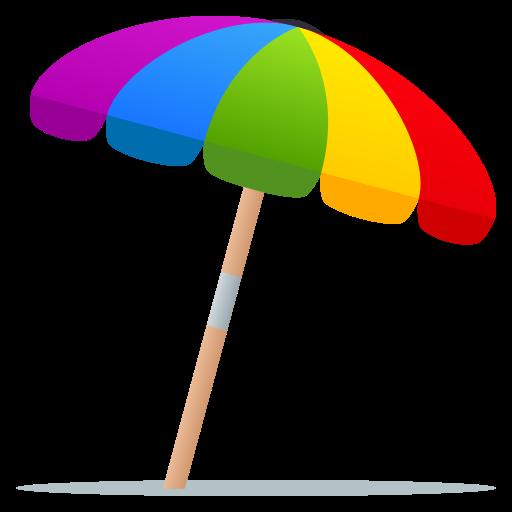 Emoji ⛱ Parasol / Parapluie sur le sol | wpRock